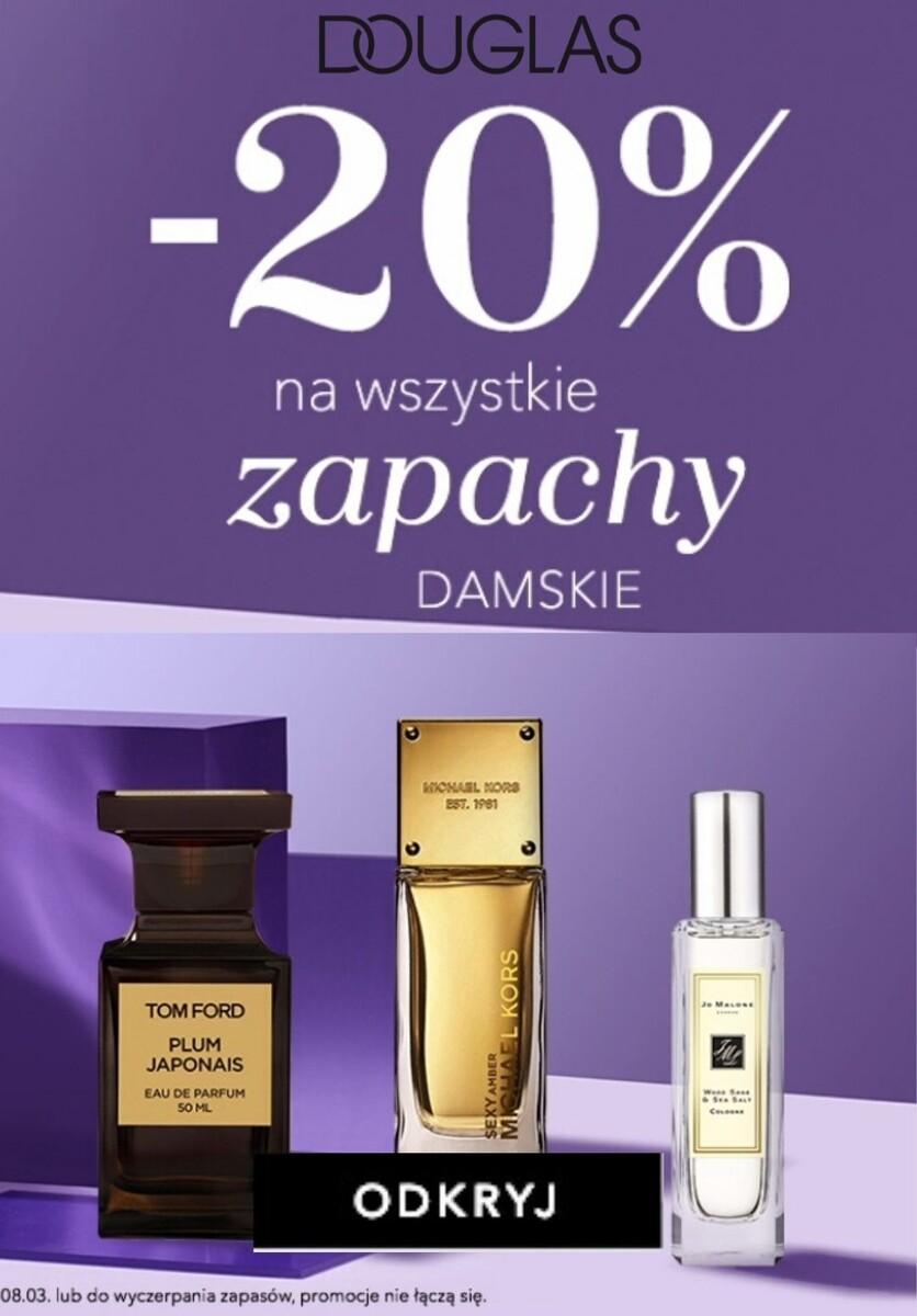 Gazetka 2020 Dzień Kobiet - Douglas   -20% na wszystkie damskie zapachy