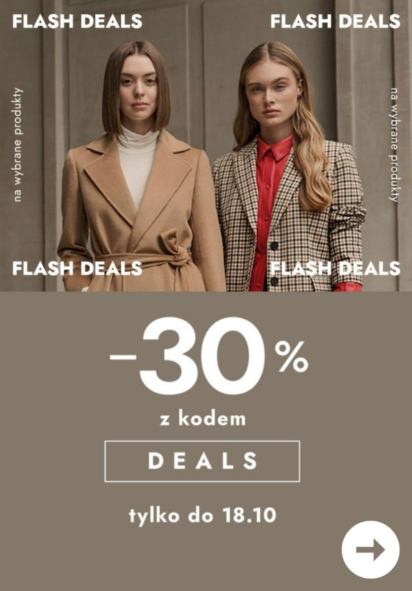 Gazetka Modivo - -30% Flash Delas z KODEM