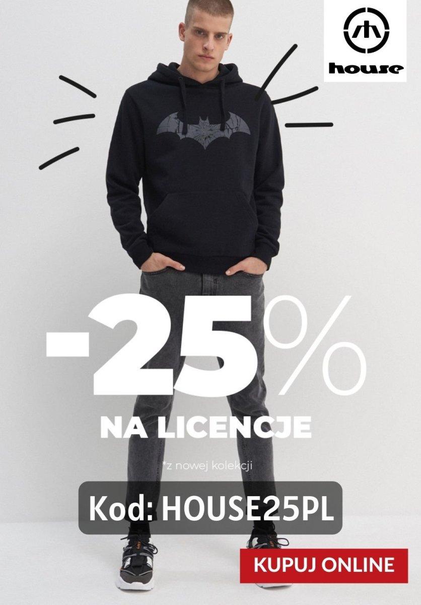 Gazetka House - -25% na kolekcje z licencją z KODEM