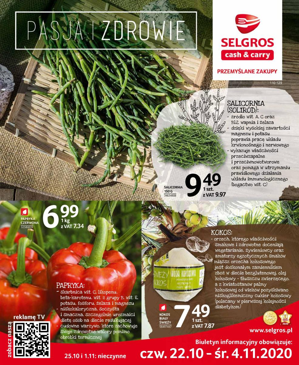 Gazetka Selgros - Katalog Pasja i Zdrowie