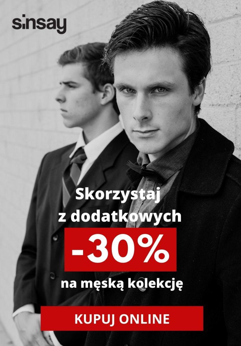 Gazetka Sinsay - Dodatkowe -30% na męską kolekcję