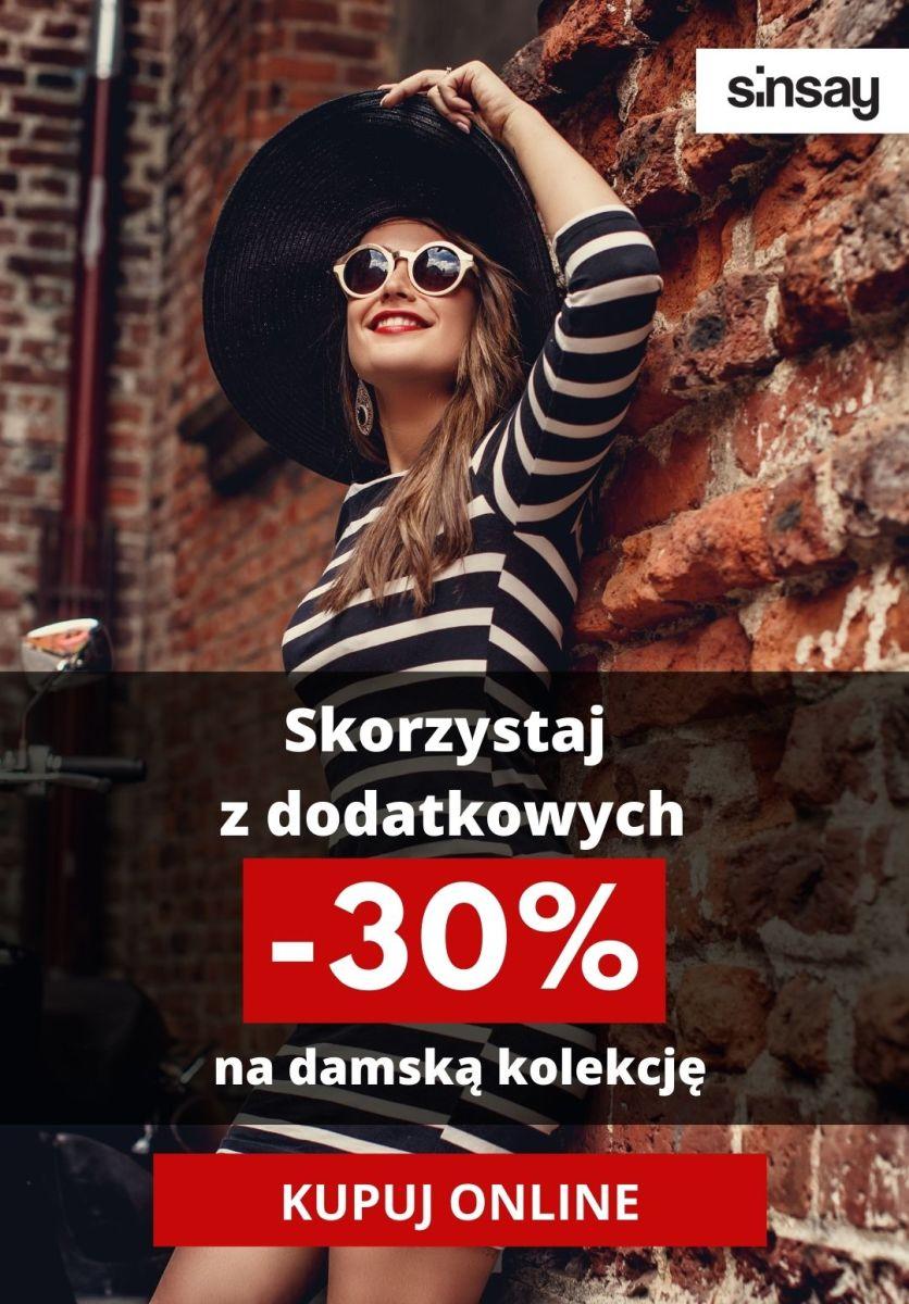 Gazetka Sinsay - Dodatkowe -30% na damską kolekcję