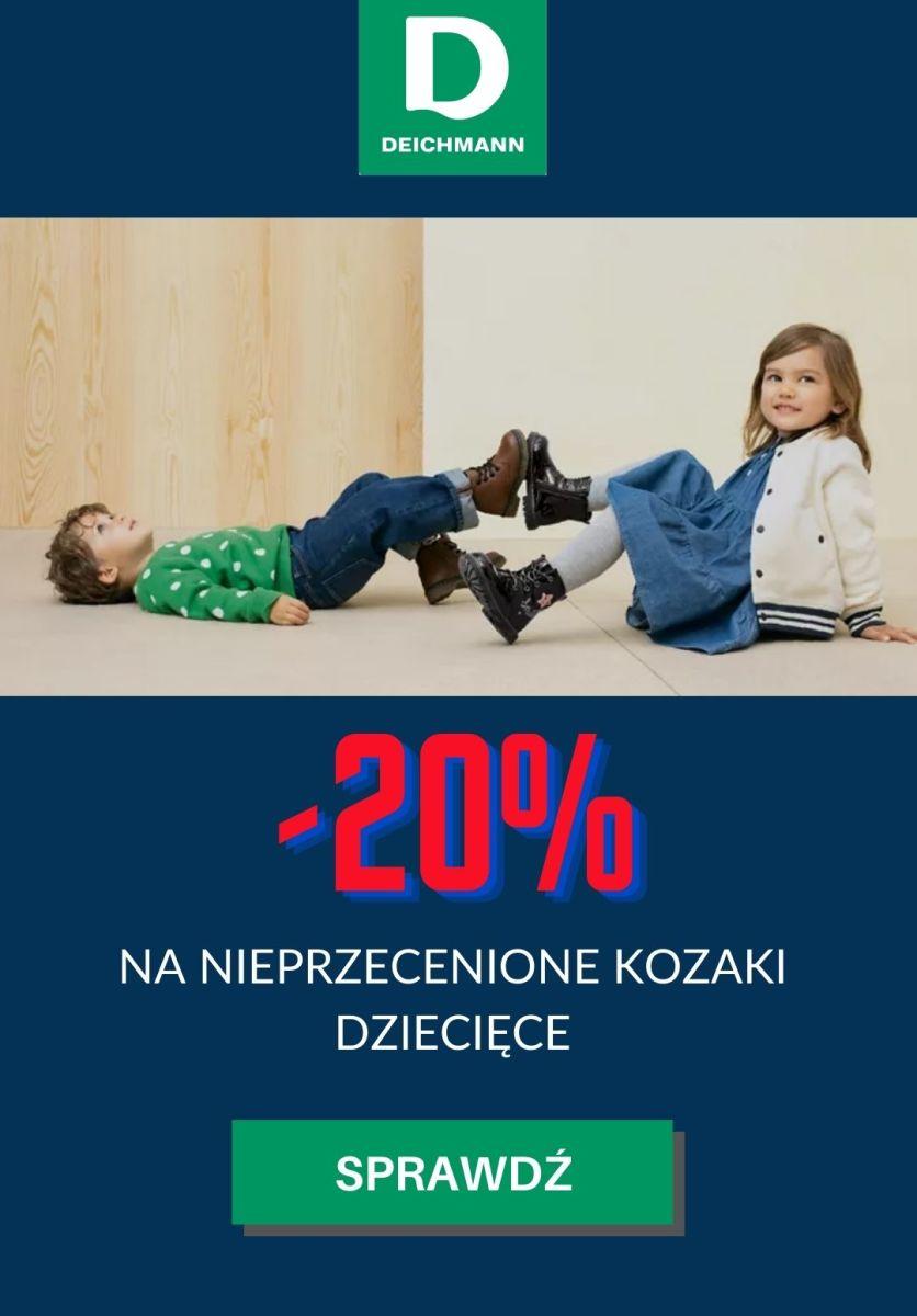 Gazetka Deichmann - -20% na nieprzecenione kozaki dziecięce