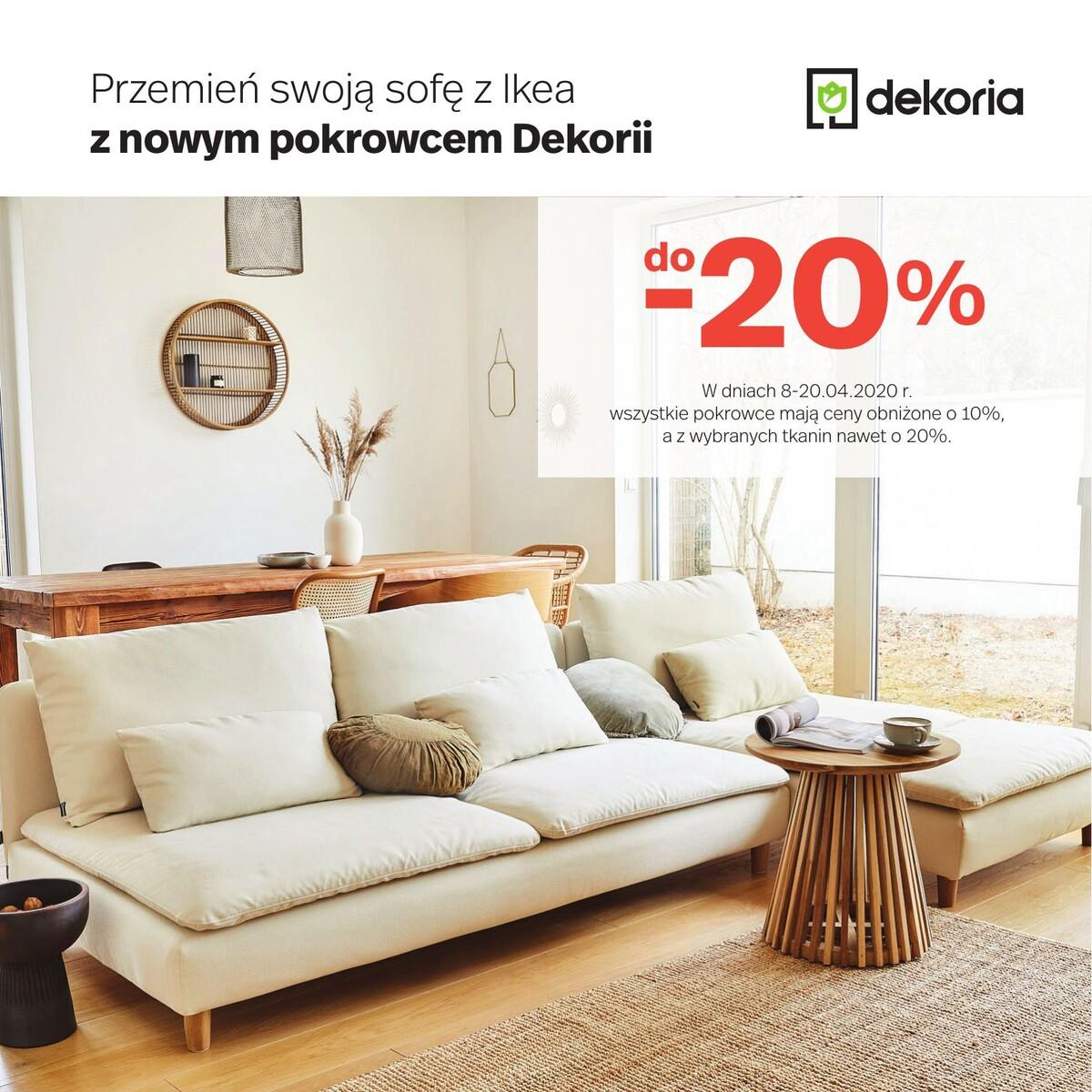 Gazetka dekoria - Pokrowce do -20%