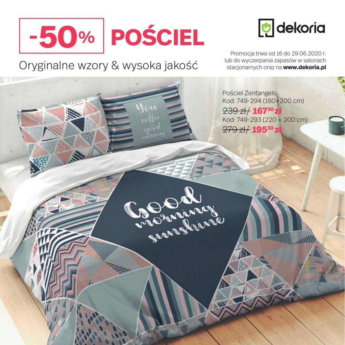 Gazetka dekoria - Pościel -50%