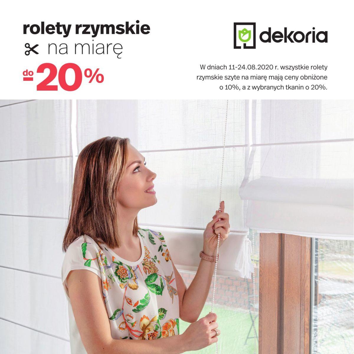 Gazetka dekoria - Rolety rzymskie na miarę do -20%