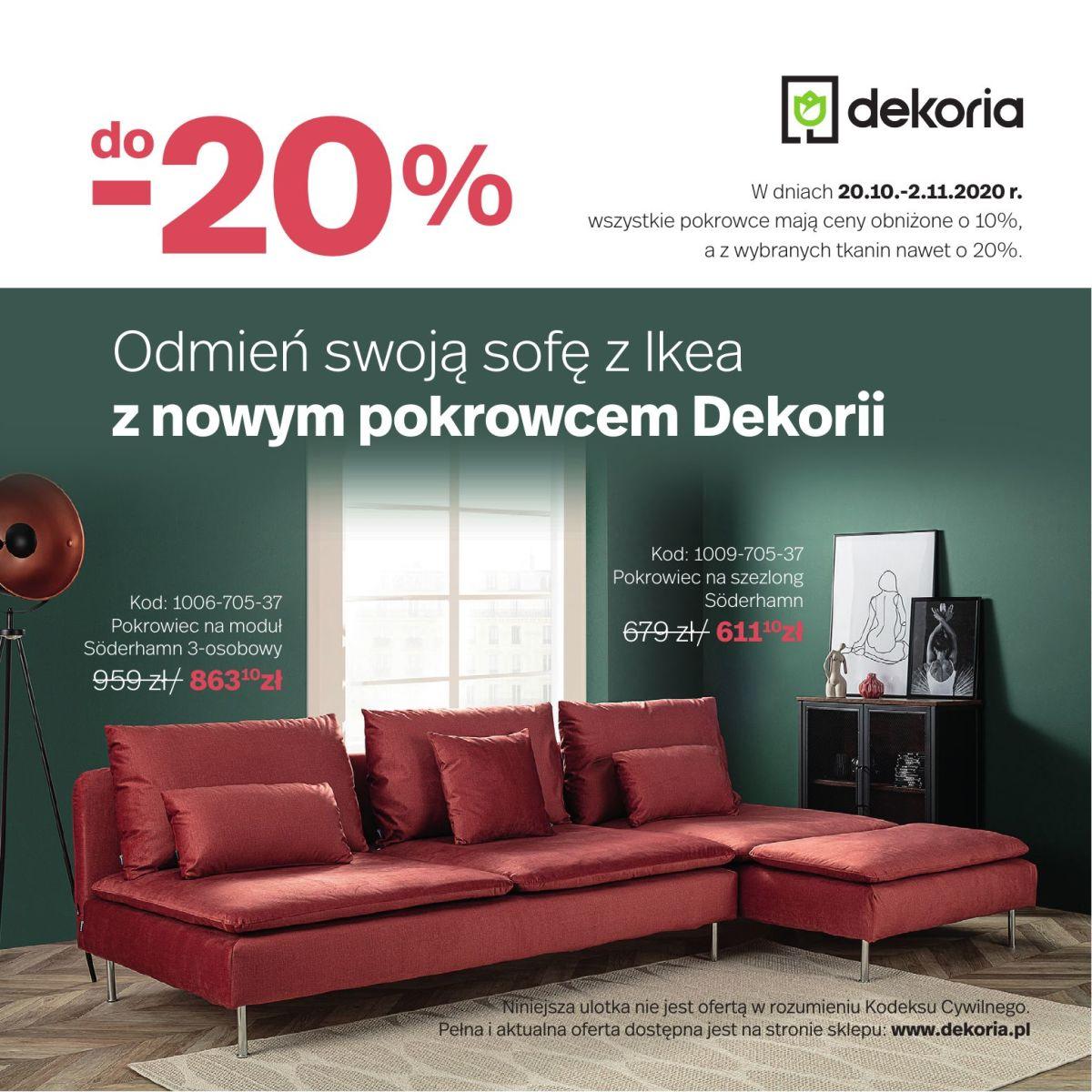 Gazetka dekoria - Odmień swoją sofę z Ikea
