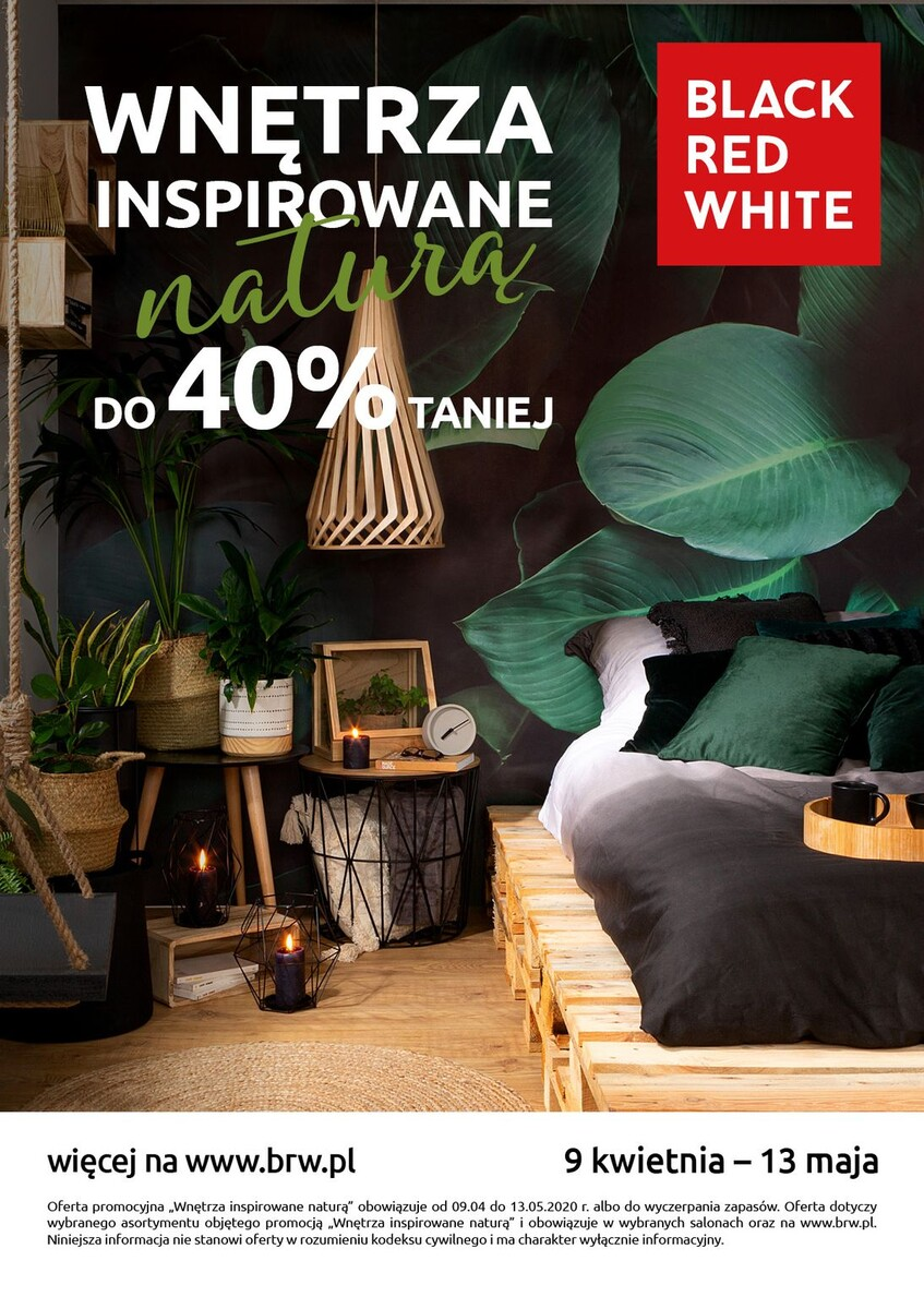 Gazetka Black Red White - Wnętrza inspirowane naturą do 40% taniej