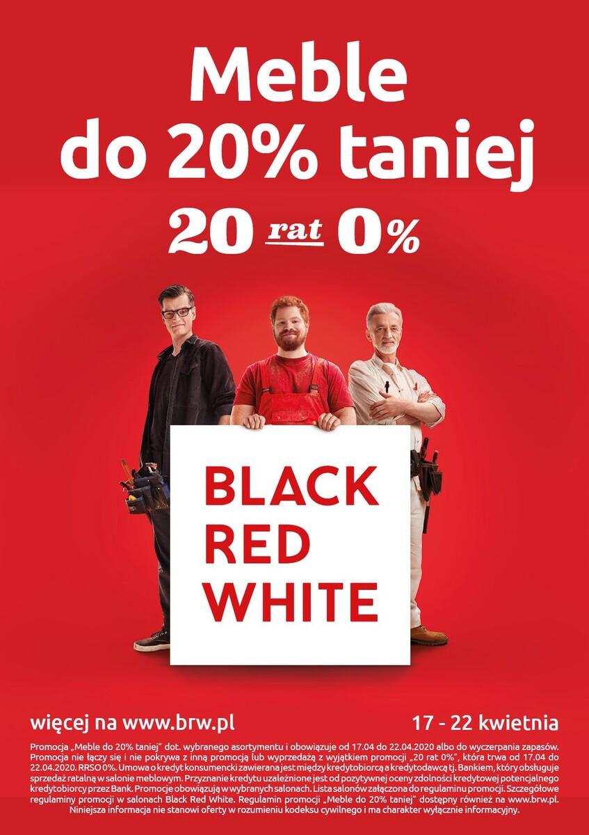 Gazetka Black Red White - Meble do 20% taniej