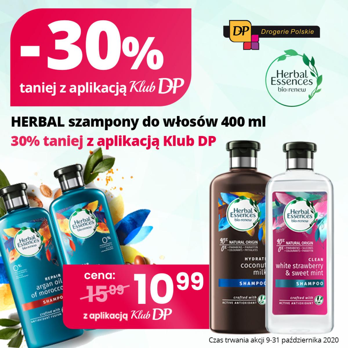 Gazetka Drogerie Polskie - -30% taniej z aplikacją klub DP - Herbal