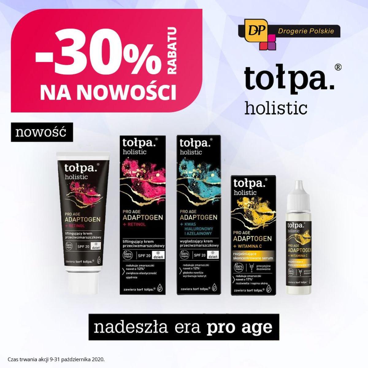 Gazetka Drogerie Polskie - -30% na nowość - tołpa