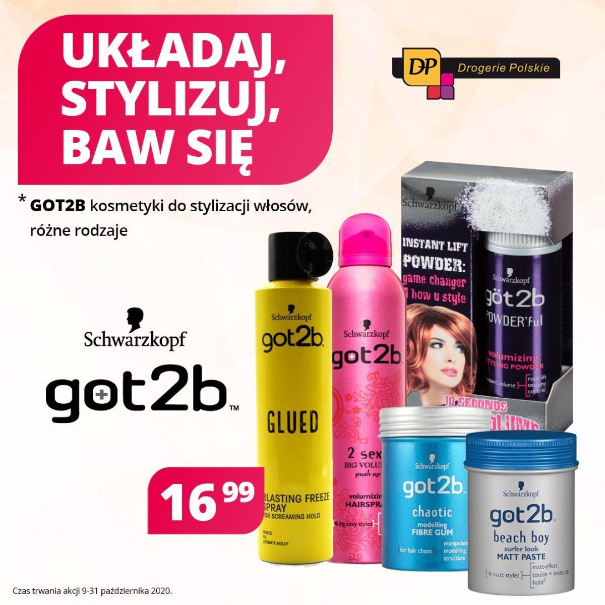 Gazetka Drogerie Polskie - Układaj, stylizuj, baw się - got2b