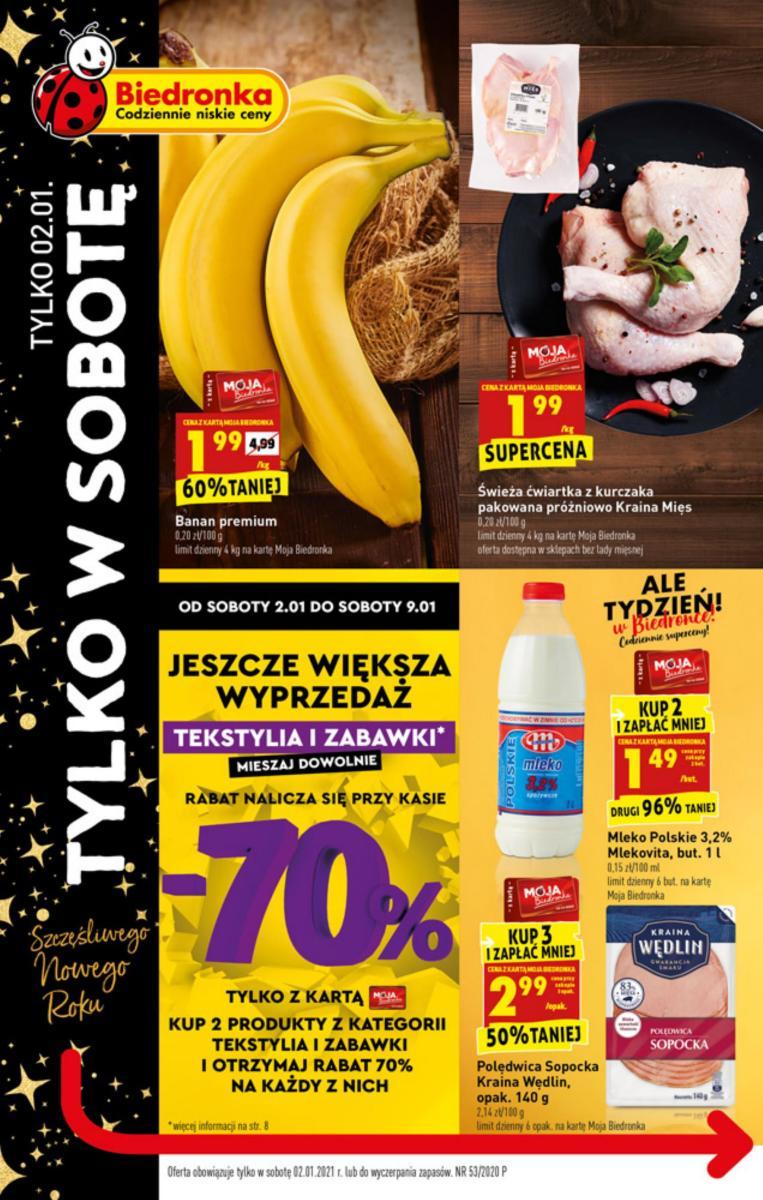 Gazetka Biedronka - W tym tygodniu  - oferta obowiązuje tylko 02.01.2021