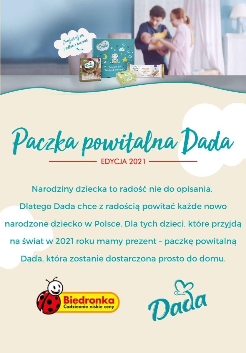 Gazetka Biedronka - Paczka powitalna Dada