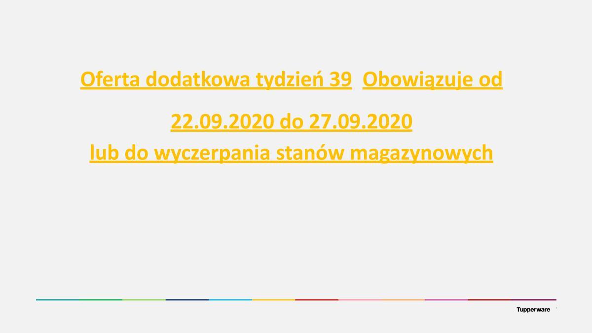 Gazetka Tupperware - Oferta specialna