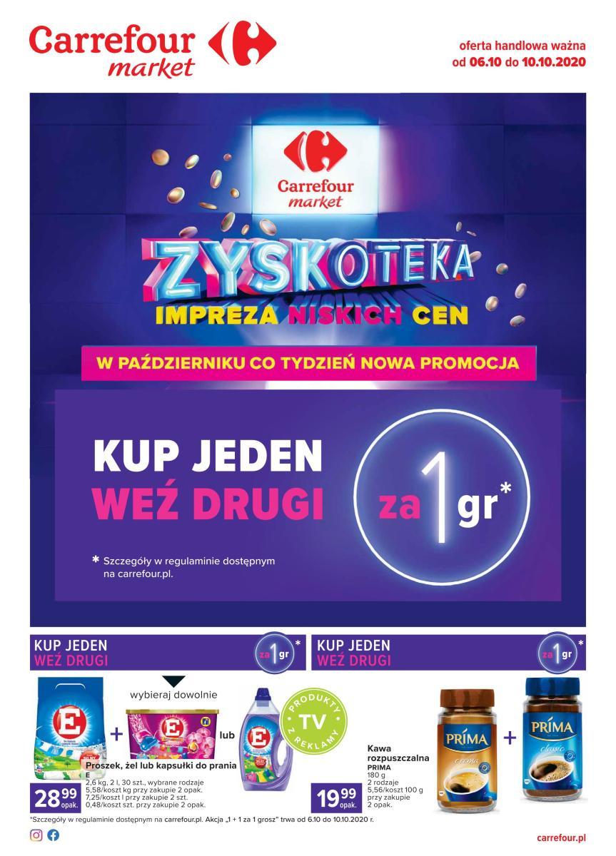 Gazetka Carrefour Market - Zyskoteka - impreza niskich cen