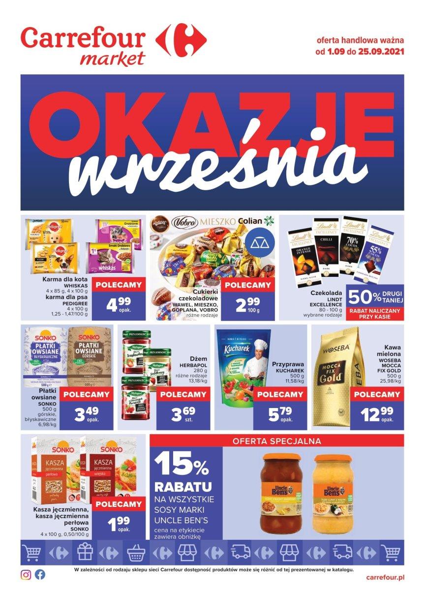 Gazetka Carrefour Market - Gazetka Okazje września