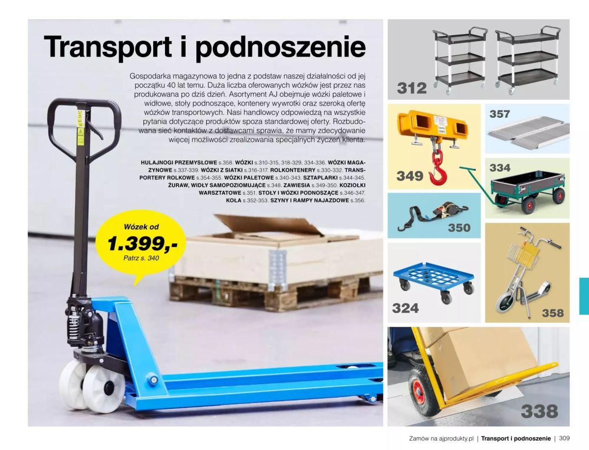 Gazetka AJ Produkty - Transport i podnoszenie  - Katalog Wiosna 2020