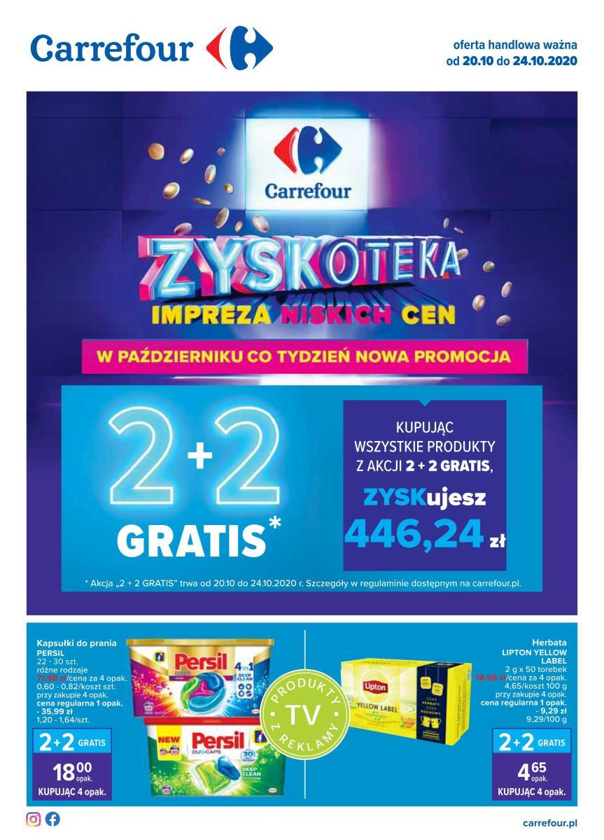 Gazetka Carrefour - Zyskoteka - impreza niskich cen