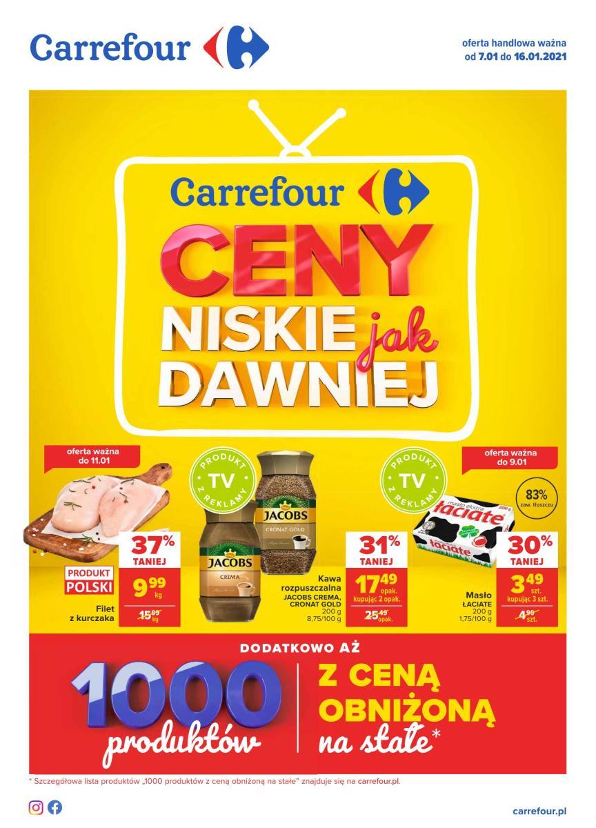 Gazetka Carrefour - Gazetka: Ceny niskie jak dawniej