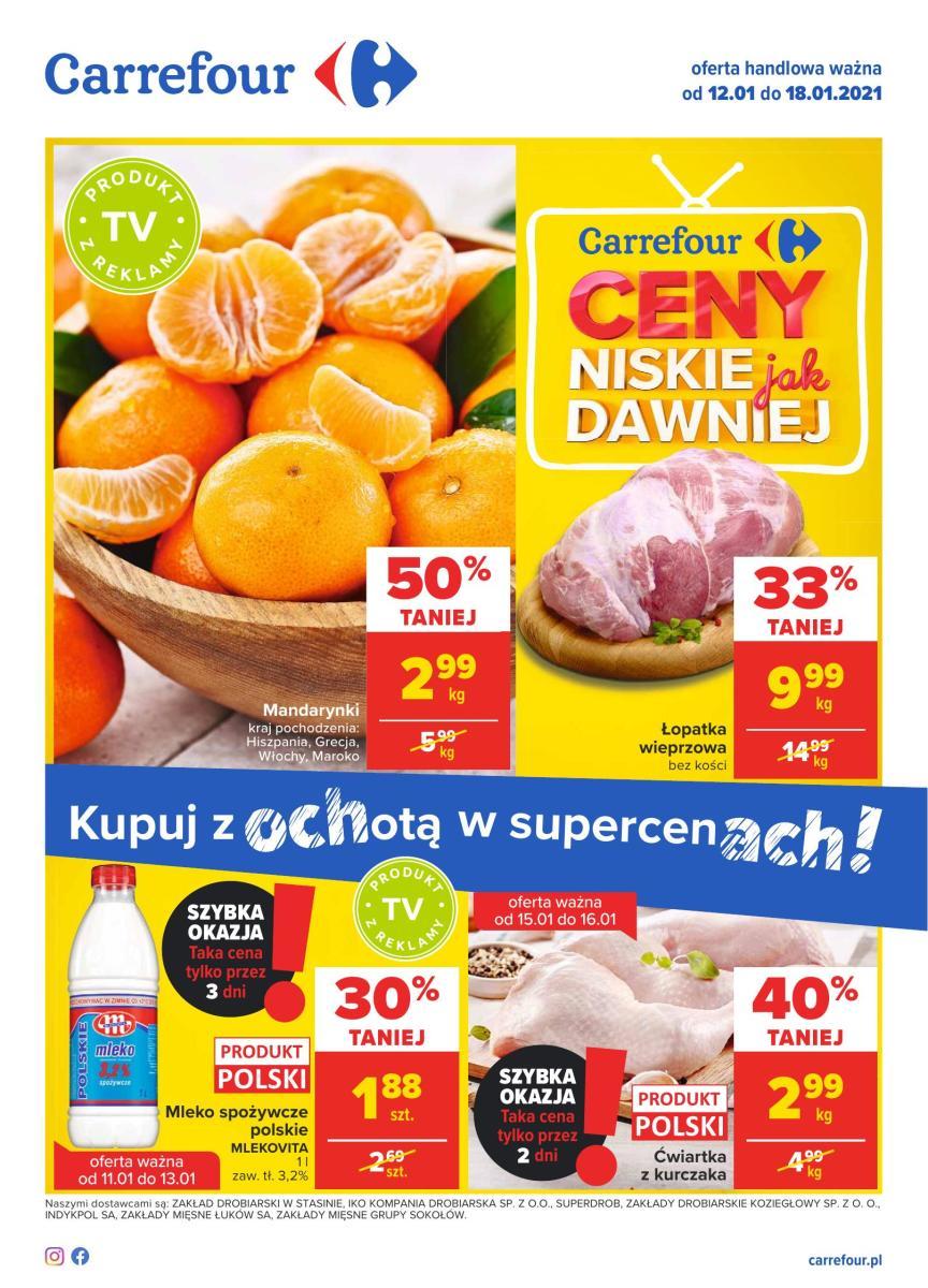 Gazetka Carrefour - Kupuj z ochotą w supercenach!