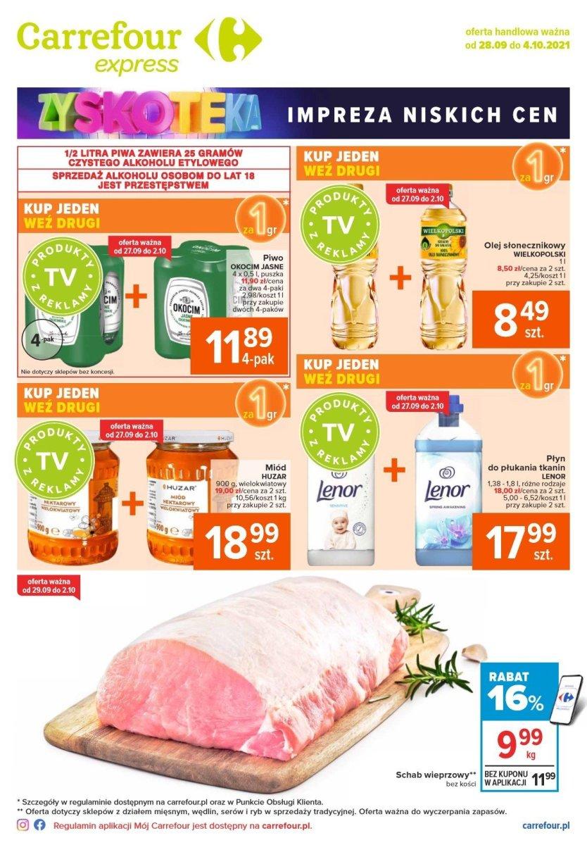 Gazetka Carrefour Express - Impreza niskich cen