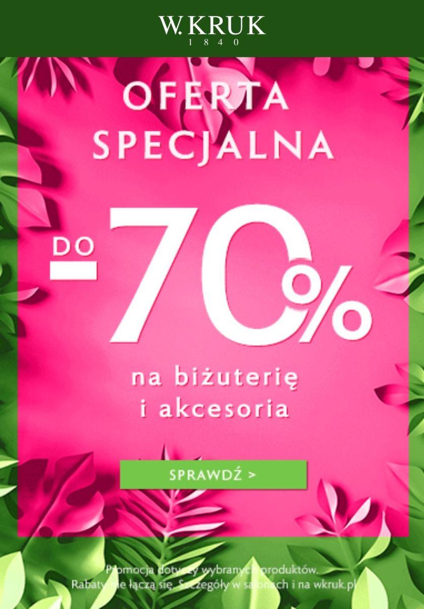 Gazetka W.KRUK - Do -70% na biżuterię i akcesoria