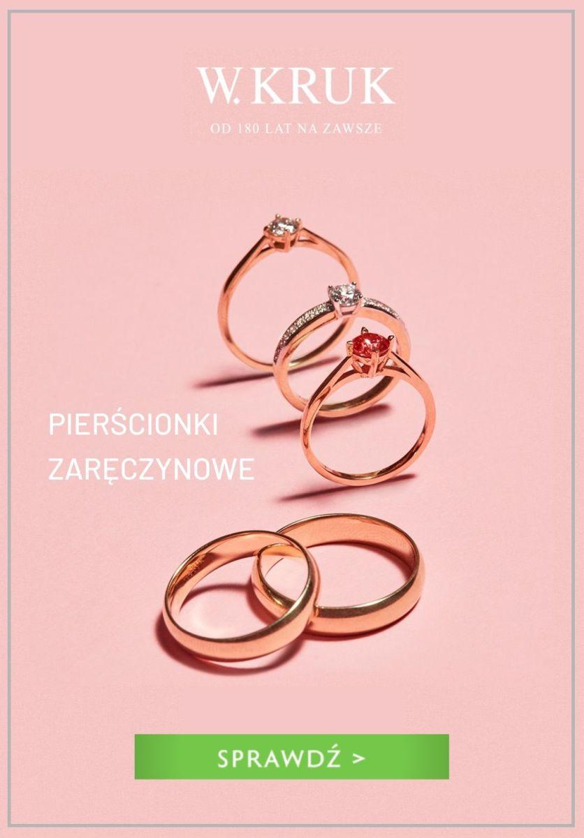 Gazetka W.KRUK - Od 1290 zł pierścionki zaręczynowe