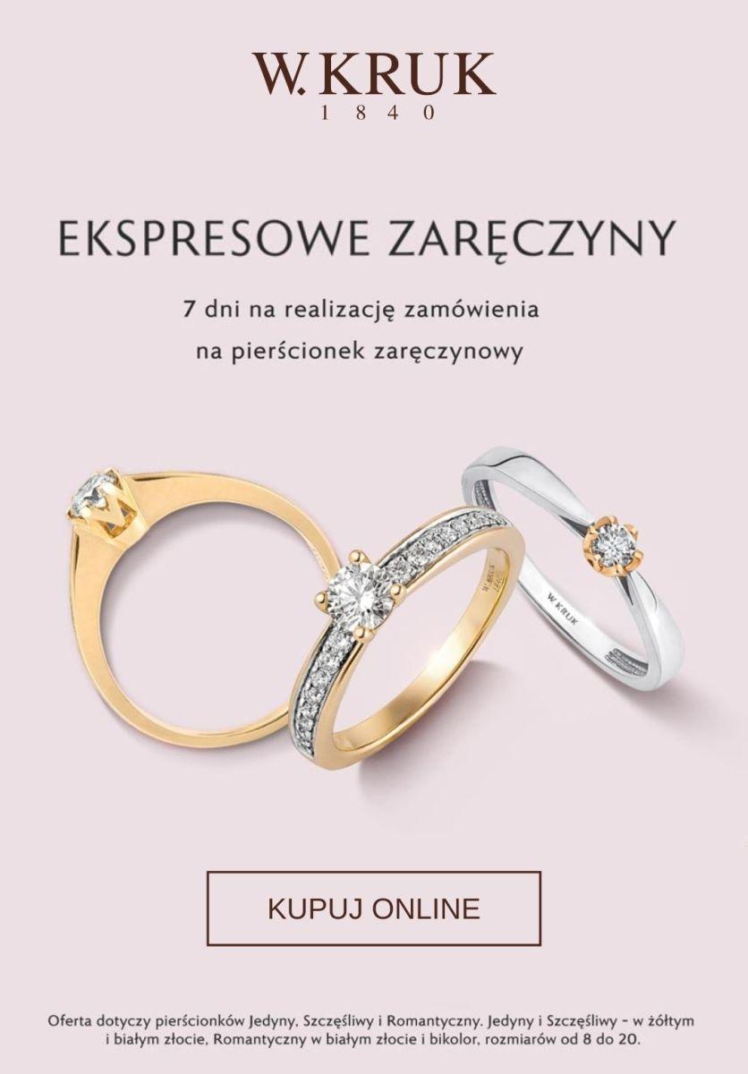 Gazetka W.KRUK - Pierścionki zaręczynowe za 7 dni