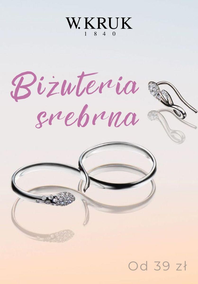 Gazetka W.KRUK - Od 39 zł biżuteria srebrna