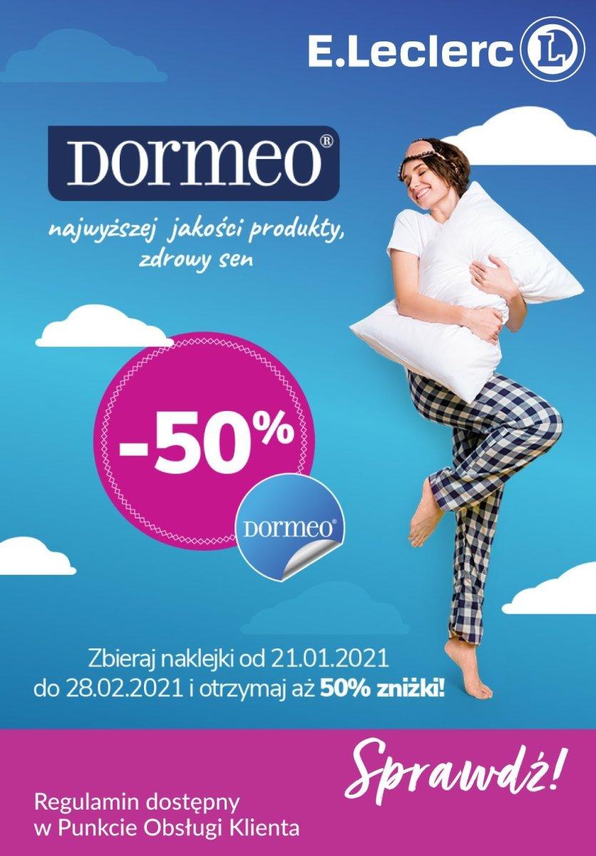 Gazetka Leclerc - Produkty DORMEO -50% do 28.02