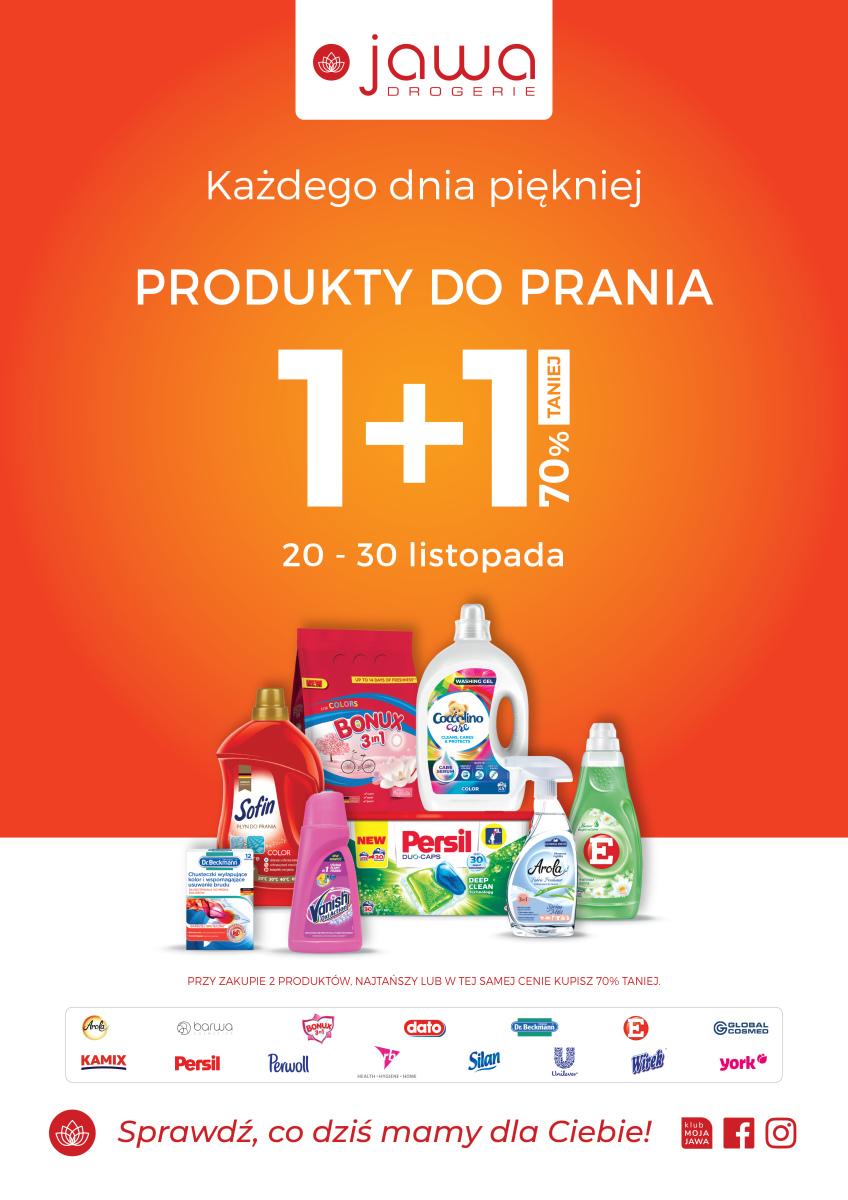 Gazetka Drogerie Jawa - Produkty do prania 1+1 za 50%