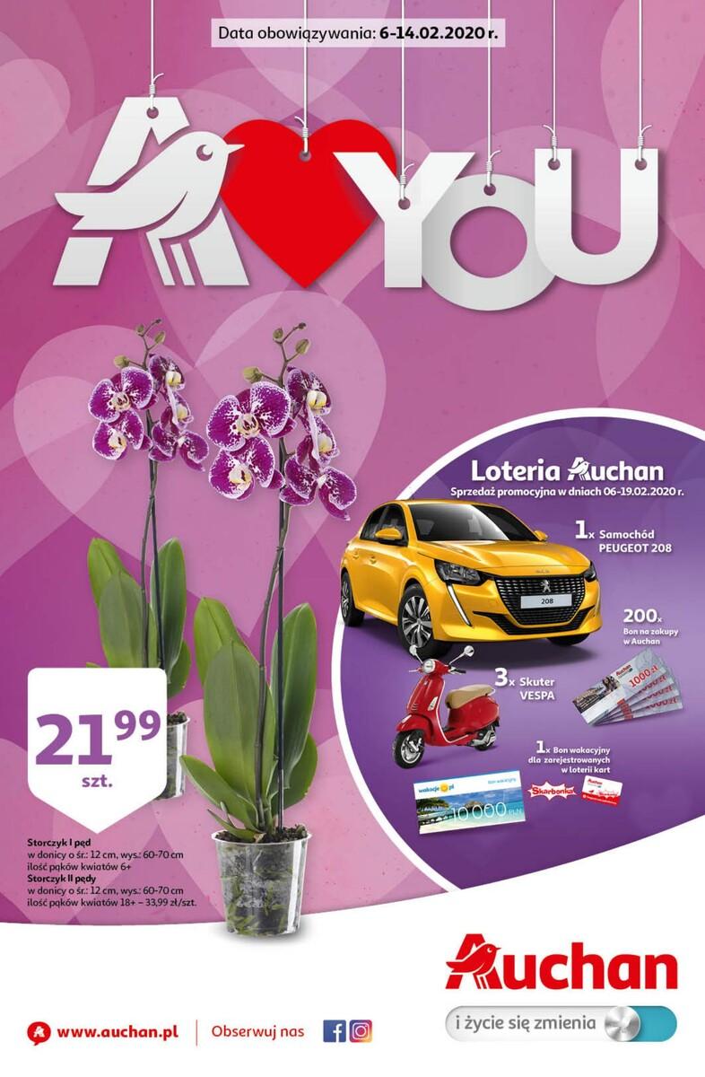Gazetka Auchan - A love you Walentynki - hipermarket