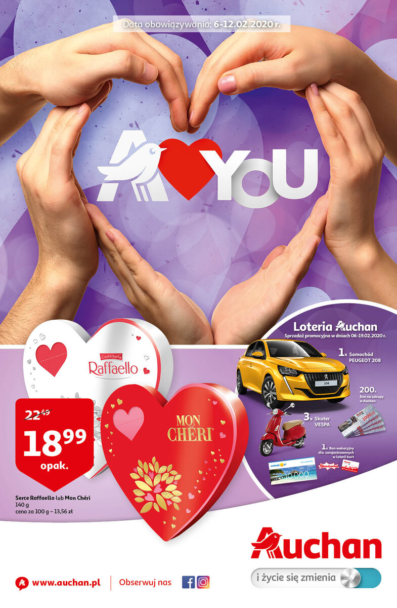 Gazetka Auchan - A love You - hipermarket