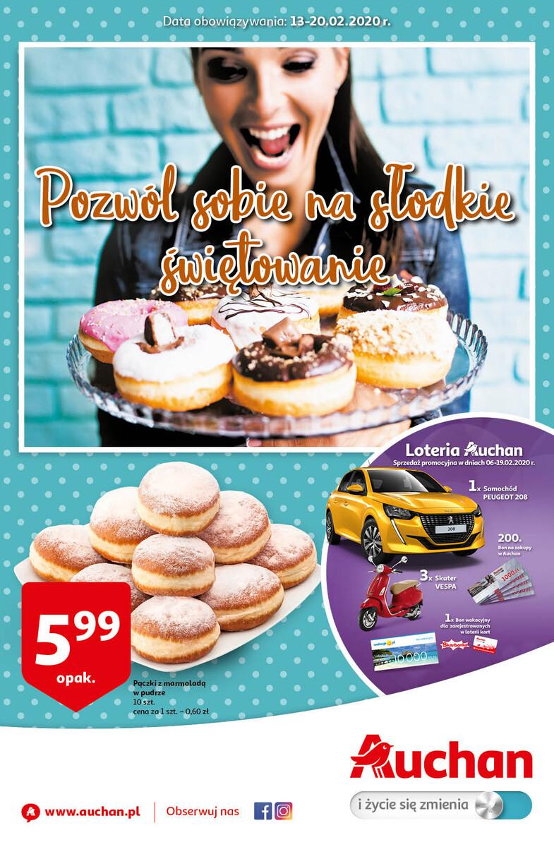 Gazetka Auchan - Pozwól sobie na słodkie świętowanie - hipermarket