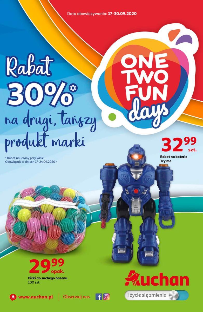 Gazetka Auchan - One Two fun - hipermarket