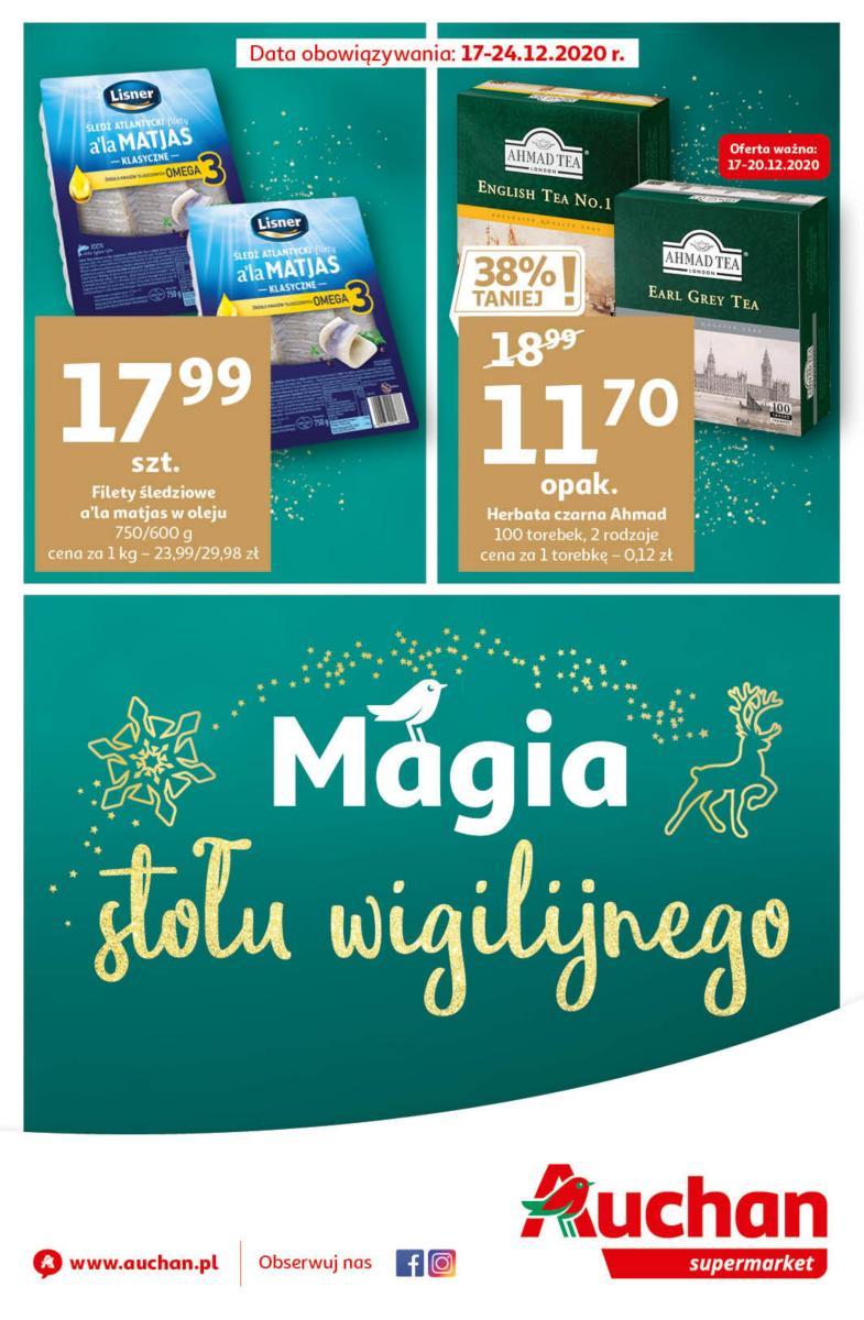 Gazetka Auchan - Magia stołu wigilijnego Supermarket