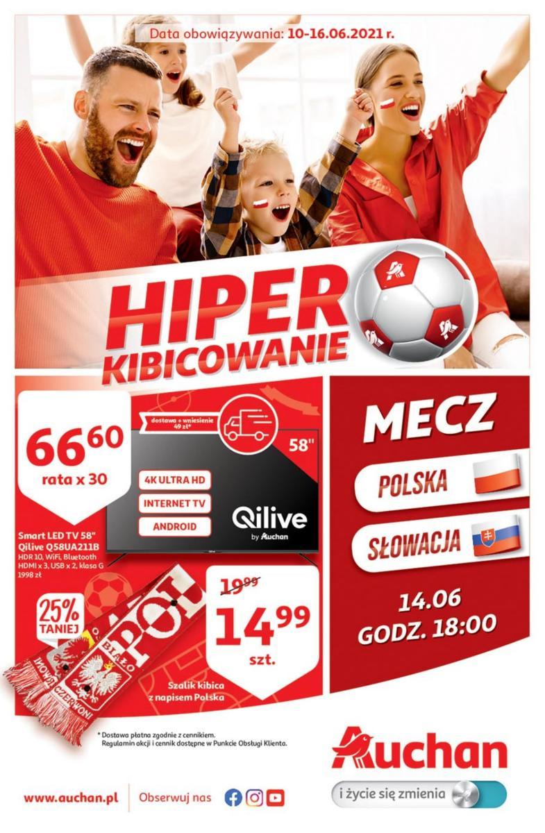 Gazetka Auchan - Hiper Kibicowanie Hipermarkety