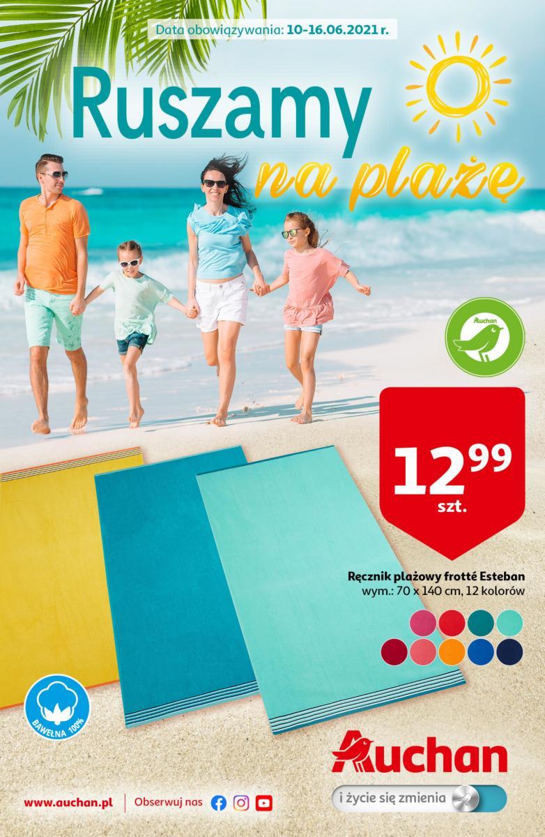 Gazetka Auchan - Ruszamy na plażę Hipermarkety