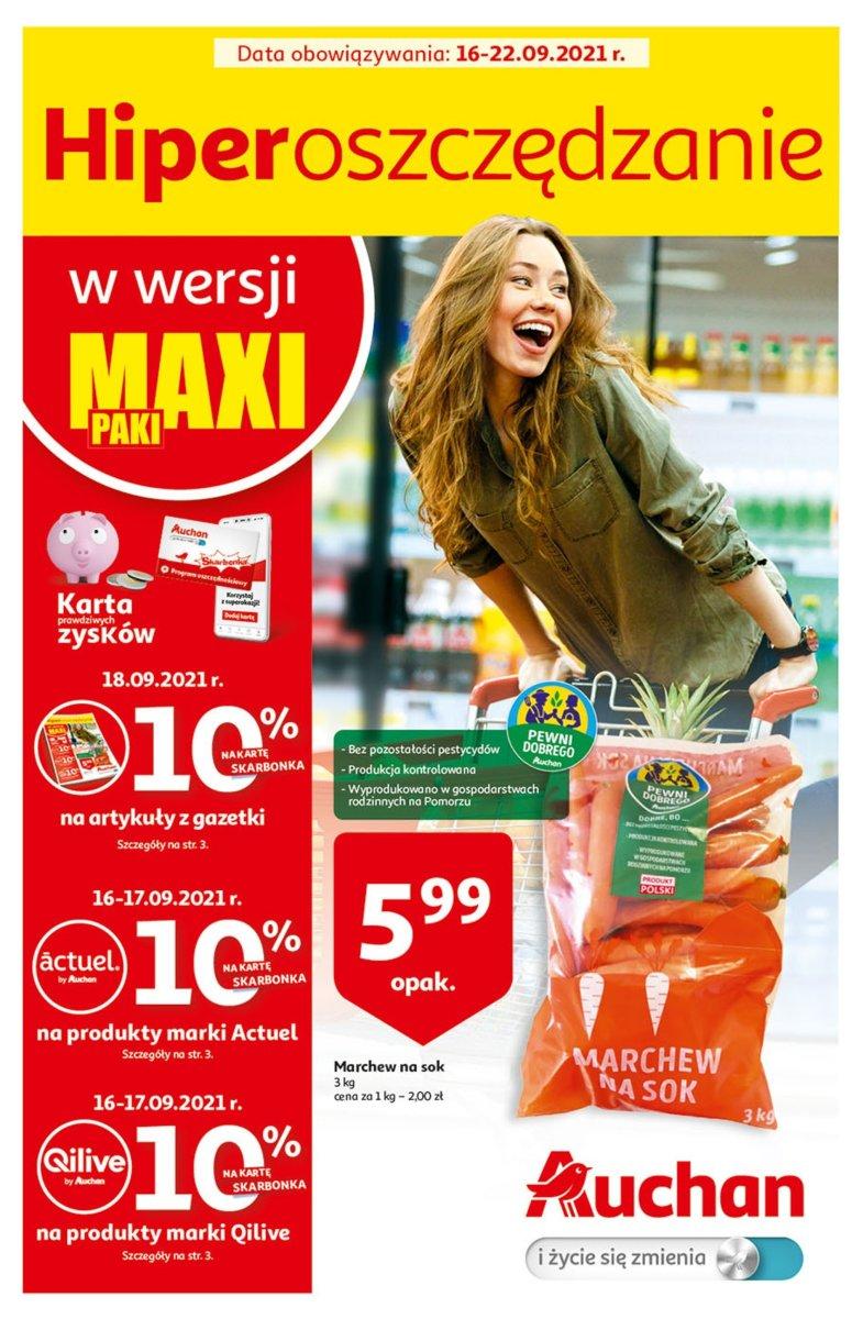 Gazetka Auchan - Hiperoszczędzanie w wersji Maxi Paki