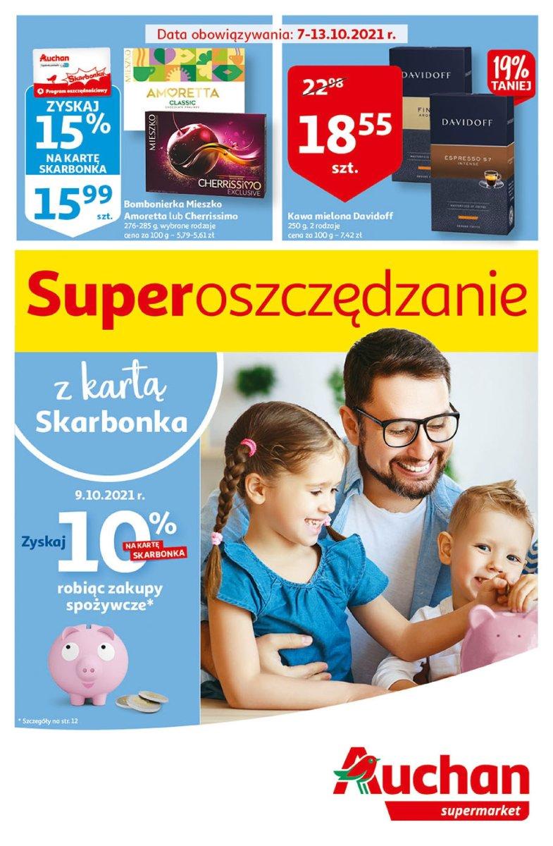 Gazetka Auchan - Superoszczędzanie z kartą Skarbonka Supermarkety