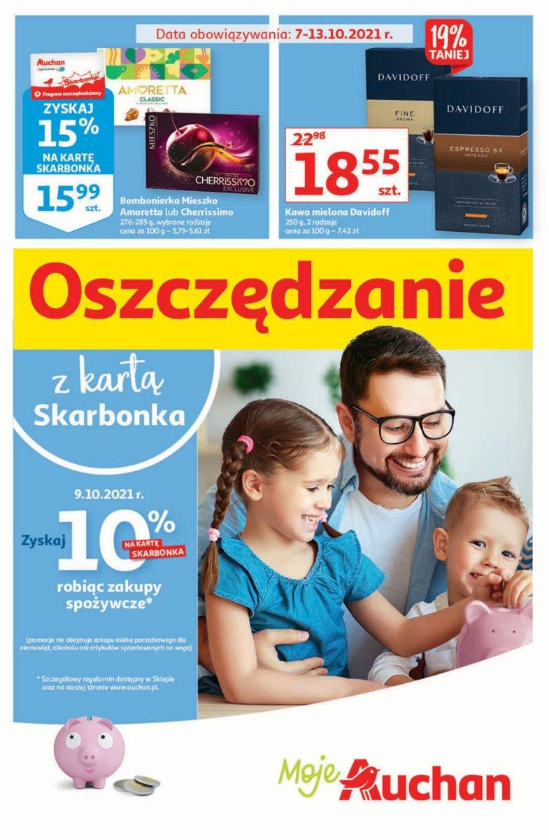 Gazetka Auchan - Oszczędzanie z kartą Skarbonka Moje Auchan