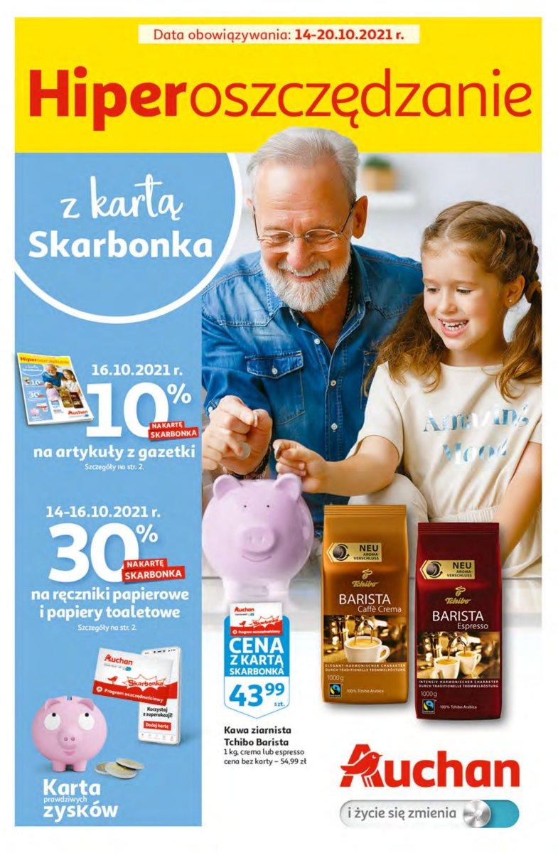 Gazetka Auchan - Hiperoszczędzanie z Kartą Skarbonka Hipermarkety