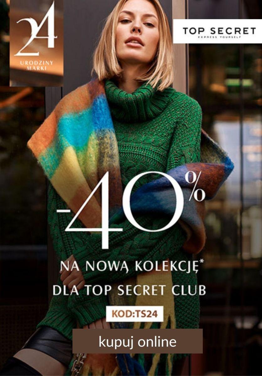 Gazetka Top Secret - -40% na nową kolekcję dla Top Secret Club