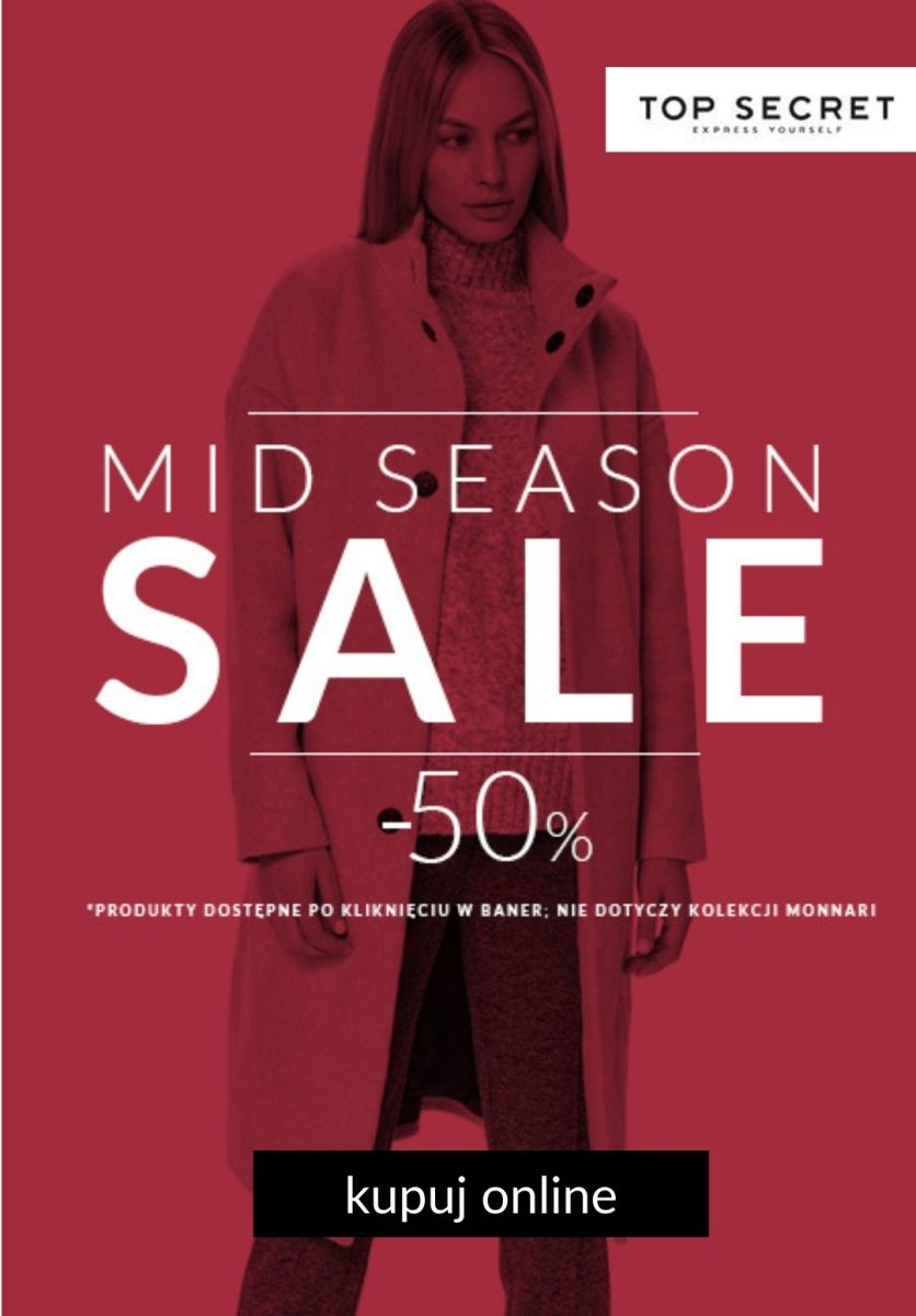 Gazetka Top Secret - -50% Mid Season Sale