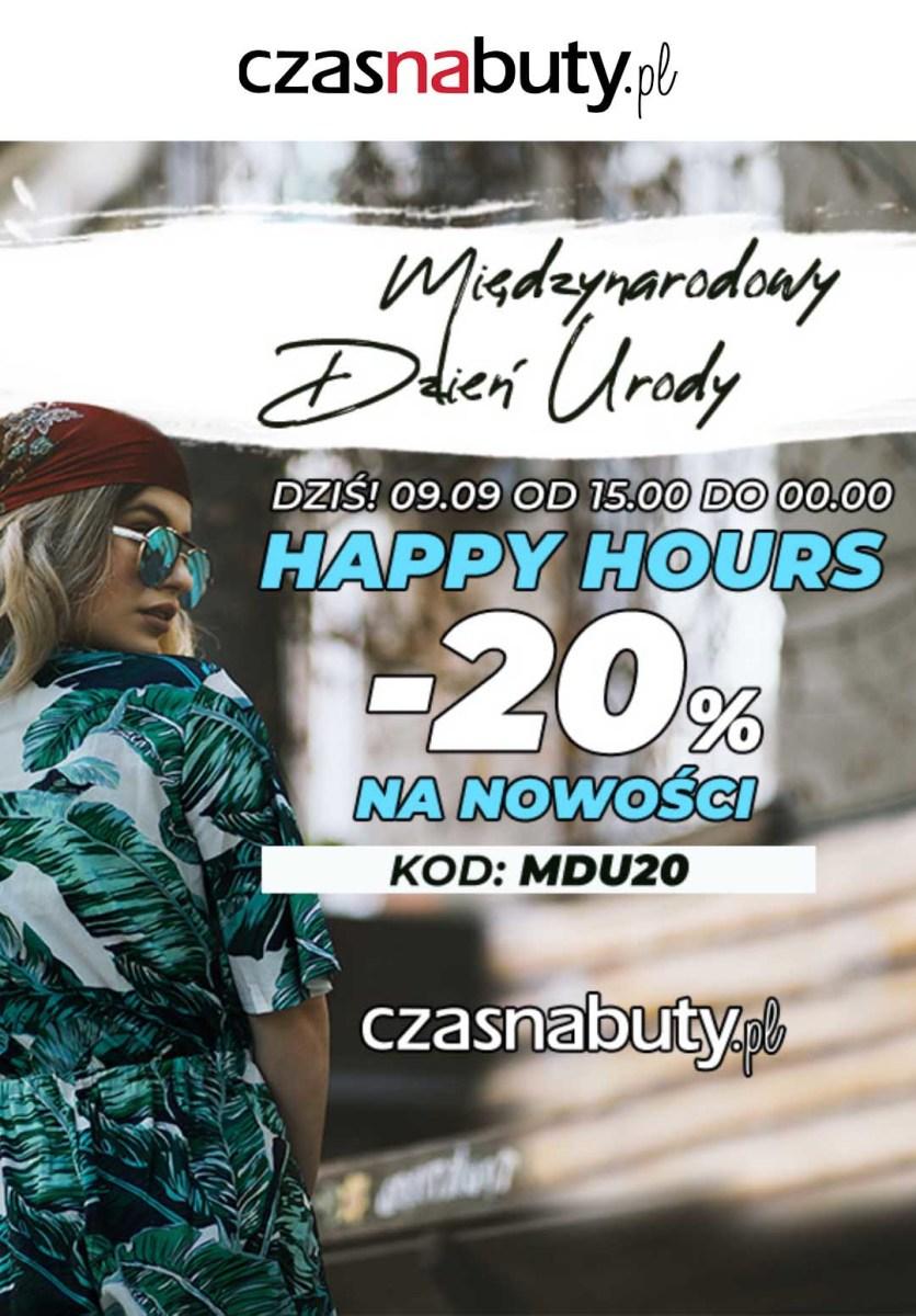 Gazetka Czasnabuty.pl - -20% na nowości z kodem