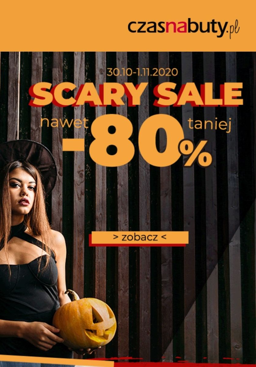 Gazetka Czasnabuty.pl - Do -80% Halloween Sale