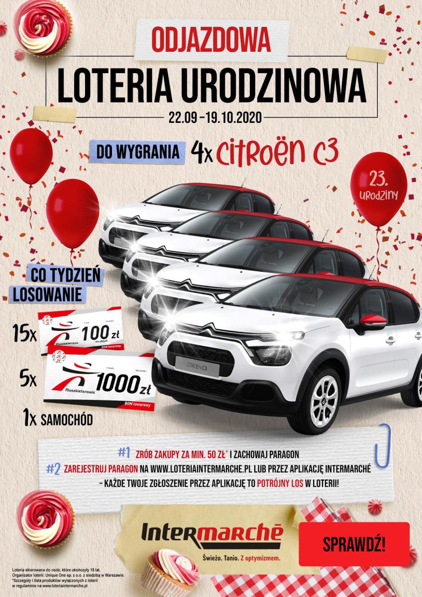 Gazetka Intermarche - Odjazdowa loteria urodzinowa