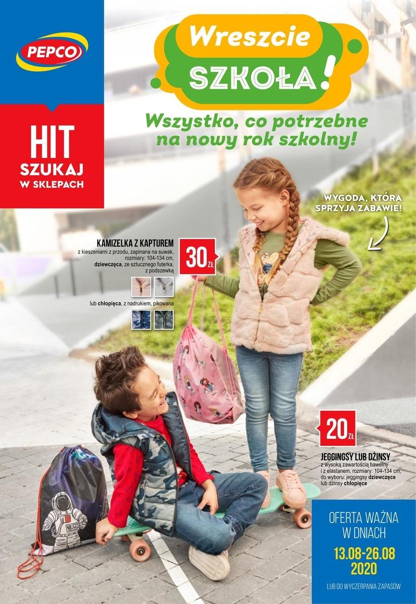 Gazetka Pepco - Wreszcie szkoła!