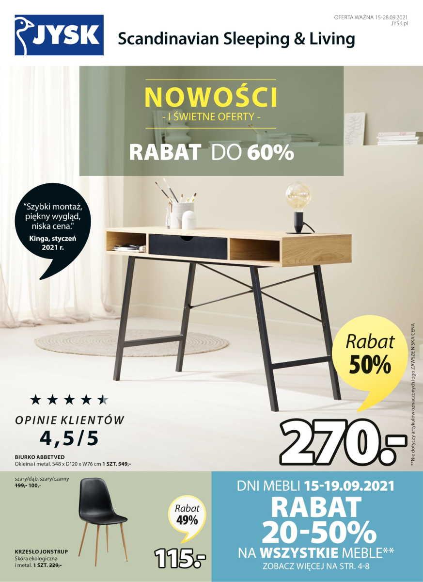 Gazetka Jysk - Nowości i świetne oferty do -60%
